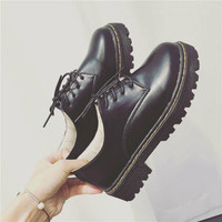 Flats Round-toe England Style Low-cut Shoes [9448887047]