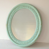 Mirror Large 16 x 19 Vintage Shabby Cottage Chic by MollyMcShabby