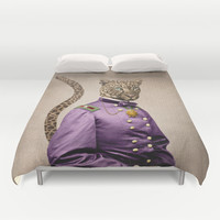 Grand Viceroy Leopold Leopard Duvet Cover by Peter Gross
