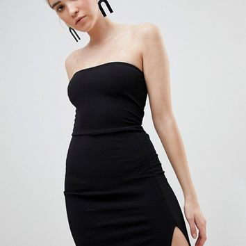 Boohoo bandeau mini dress at asos.com
