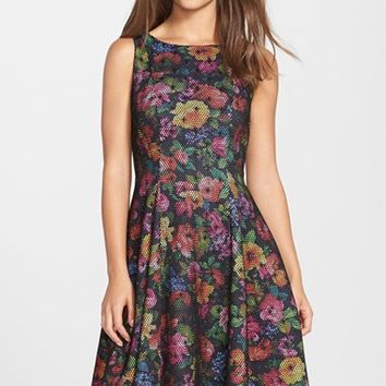 Women's Eva Franco 'Collette' Print Scuba Fit & Flare Dress