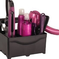 STYLEAWAY - BLACK; Organizer/Hanger for Curling Iron, Flat Iron, Blow Dryer, Hair Styling Products