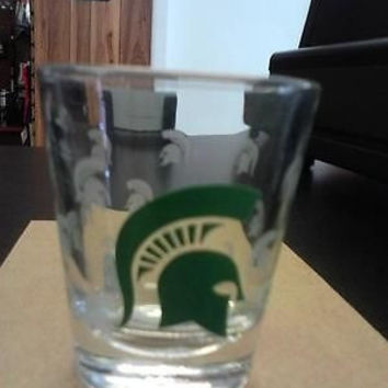 NCAA Michigan State Spartans 2oz Satin Etch Shot Glass