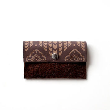 Card Holder Moroccan Pattern Leather  No. CH-106