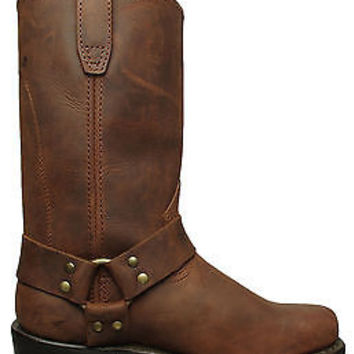 Dingo Womens Harness Boots Gaucho Brown Leather DI7374