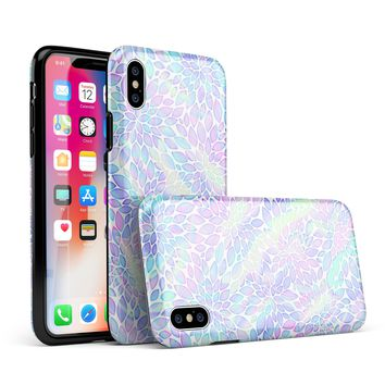 Iridescent Dahlia v3 - iPhone X Swappable Hybrid Case
