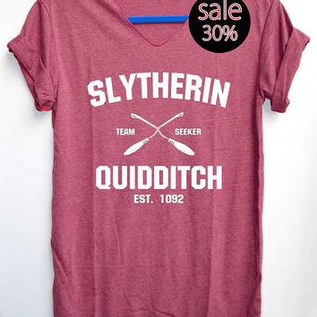 Slytherin Quidditch Shirt Harry Potter Shirts Red by iNakedapparel