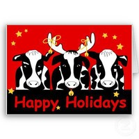 Christmas Cows Greeting Card from Zazzle.com