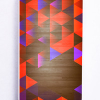 Geometric Wood for Iphone 5 / 5s Hard Cover Plastic