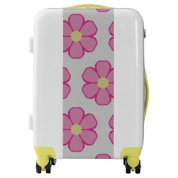 Pink Flower Luggage