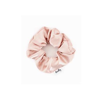 Washed Satin Hair Scrunchie, Nude