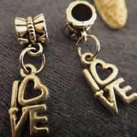Love Charm for Pandora Bracelet | asterling - Jewelry on ArtFire