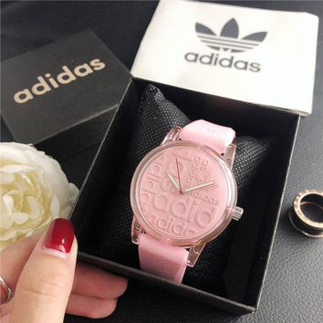 ADIDAS Woman Men Fashion Quartz Movement Wristwatch Watch