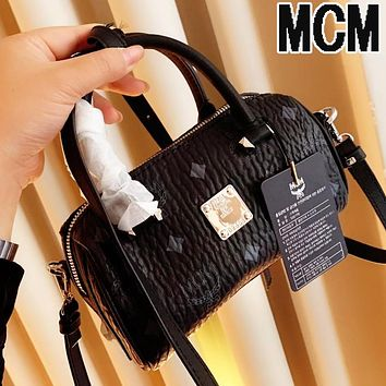 MCM Fashion Women Shopping Leather Handbag Satchel Crossbody Shoulder Bag