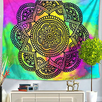 Psychedelic Series Mandala Bed Wall Tapestry