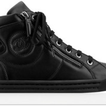 Calfskin zipped sneakers - CHANEL