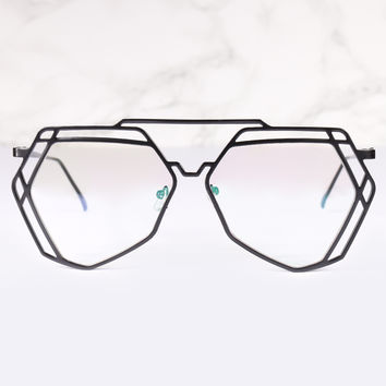 Aviator Clear Lens Velvetine Glasses