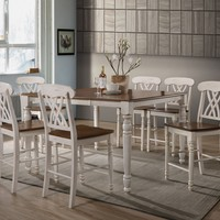 Alluring Counter Height Table, White and Brown By ACME
