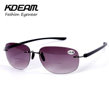 Multi-function Reading Glasses New Fashion Men Business Sunglasses Eyewear Pilot Sun Glasses UV Protection