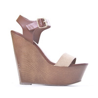 Tan & Cognac Pensee Wedges