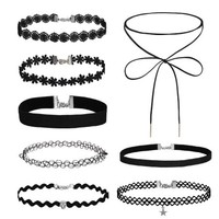 BodyJ4You® Choker Necklace Velvet Classic Vintage Lace Collar Girls Tattoo Gothic 8 Pieces - Walmart.com