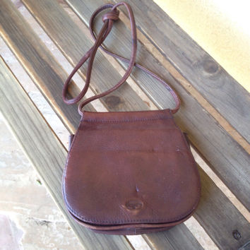 Crossbody Fossil Bag, Crossbody Purse, Brown Fossil Leather Handbag Purse, Genuine Leather Handbag, Shoulder Bag, Brown Leather Handbag
