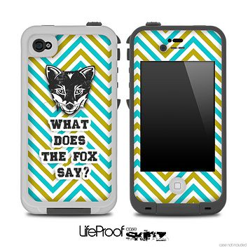 What Does the Fox Say Green And Gold Skin for the iPhone 5 or 4/4s LifeProof Case