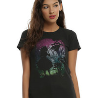 Disney Alice In Wonderland Rainbow Forest Silhouette Girls T-Shirt