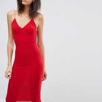 Club L Midi Dress with Cami Strap at asos.com