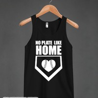 No Plate Like Home (Dark Tank)-Unisex Black Tank