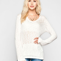 Volcom Go To Womens Sweater Cream  In Sizes