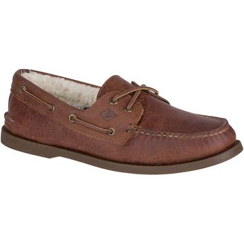 Authentic Original 2-Eye Winter Boat Shoe in Brown by Sperry