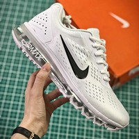 Nike Air Max 2019 Simple White Sport Running Shoes - Best Online Sale