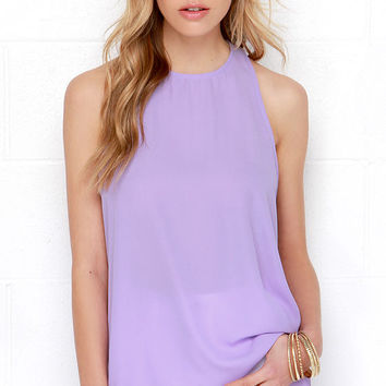 Caught In Candy Lavender Sleeveless Top