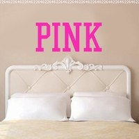 PINK Victoria's Secret Inspired Vinyl Wall Decal Sticker Art