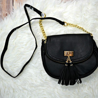 Tassel Crossbody - Black