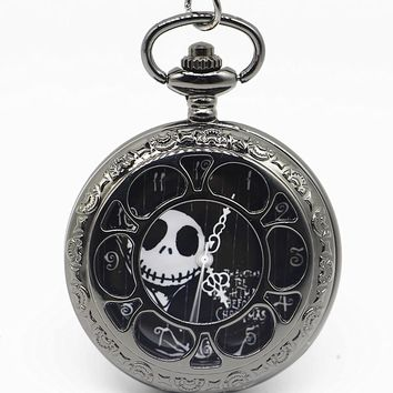 New Fashion The Nightmare Before Christmas Quartz Pocket Watch Necklace Pendant Watches Men Women Xmas Gift