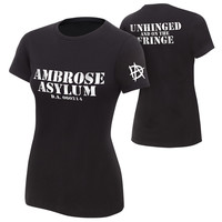 "Dean Ambrose ""Unhinged and on the Fringe"" Women's Authentic T-Shirt"