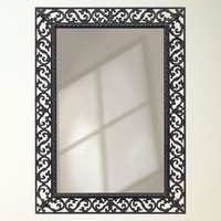 Rustic Wrought Iron Wall Mirror (9875) - Illuminada