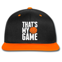 that's my game basketball snapback hat