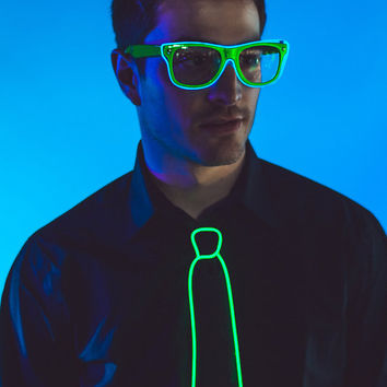 LightUp Glasses Rave Glow sunglasses w/ clear lenses by NeonNancy