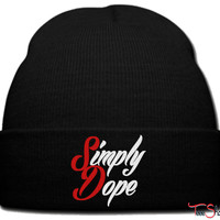 simply dope beanie knit hat