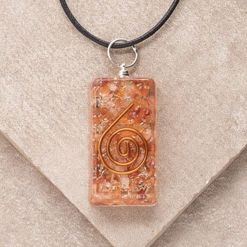 Carnelian Orgone Pendant Necklace
