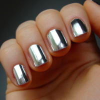 Nail Rock Nail Wraps - Metallic Silver