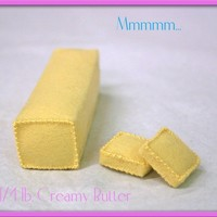 Wool Felt Play Food - Butter - Waldorf Inspired Play Kitchen Accessory for Imaginative Play