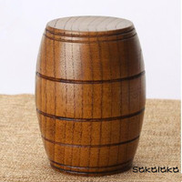 Handmade 5pcs creative wood beer mug wooden green Japanese-style wooden cups wine cups