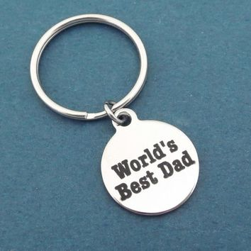 World's Best Dad, Key ring, Keychain, Birthday, Father, Dad, Father's Day, Gift, Jewelry, Accessory