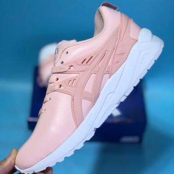 KUYOU Asics Gelkayno Leather Ratro Sport Sneaker Pink
