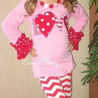 Girls Valentines LOVE Boutique Outfit
