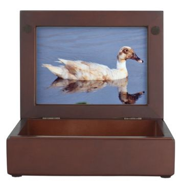 White Duck Photo Wooden Keepsake Box